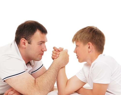 struggle between two forces. shutterstock