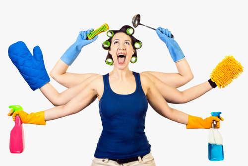 cleaning for Passover. shutterstock