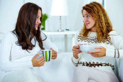 mother and daughter speak about independence. shutterstock