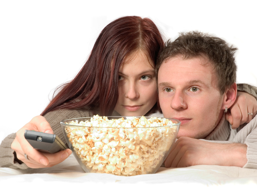 sex on TV. shutterstock