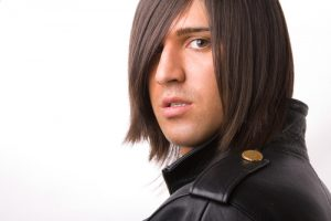 Emo hairstyle. shutterstock
