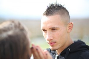Mohawk hairstyle. shutterstock