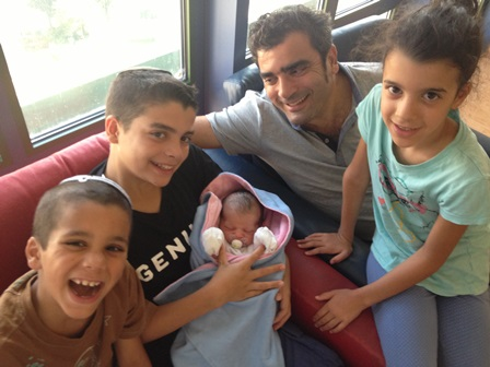 Jackie Levi with his kids