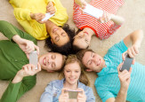teenagers with their apps. shutterstock