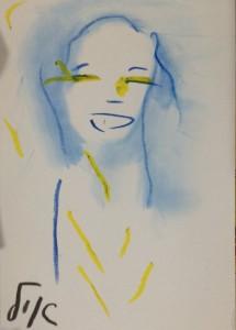 חיוך. אחד הציורים של איל