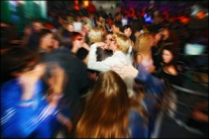 insanity in a bar. shutterstock